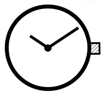 Horloge uurwerk Ronda 762, uurrad-H 0,95 standaard