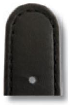 Lederband Louisville 18mm zwart glad
