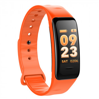 Fitness Tracker, orange, with color display