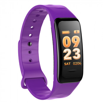 Fitness Tracker, purple, with color display