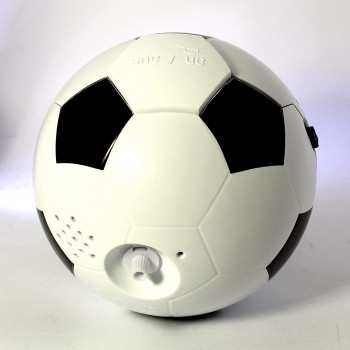 Atlanta 1199 zwart/wit Kwartswekker met muziek Voetball