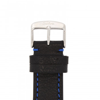 SELVA Polshorloge »Vito« - Grote Datum - blauw