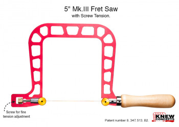 Preicision Saw Frame 5 inch with screw tension, 125mm