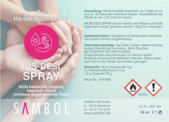 Desinfecterende spray voor de handen, 100 ml - ideaal voor onderweg
