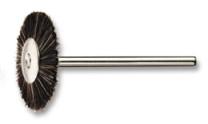 Round brush, nylon, mounted