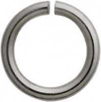 Jump ring round stainless steel/white Ø 5.00mm, thickness 1.00 mm