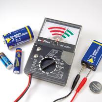 Batterij tester met analoog meetwerk