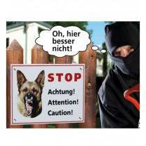 Waarschuwingsbordje hond