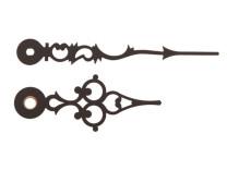 Wijzerpaar euronorm antiek zwart, Lengte wijzers 69/47mm
