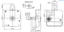 Quartz uurwerk Hechinger WX, wwl 14,5mm