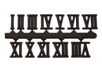 Cijferset 1-12 kunststof zwart 15mm Romijnse cijfers