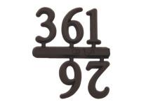 Cijferset 3-6-9-12 kunststof 15mm zwart Arabische cijfers