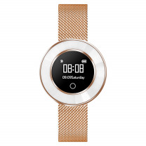 Fitness Tracker Rosé met Milanese band
