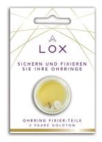 Lox - Oorbel beveiliging, anti allergisch, 24K verguld