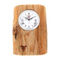 Oud-hout klok, witte wijzerplaat, Made in Germany