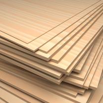 Birch plywood cuts 10x10cm, 3mm