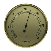 Thermometer inbouw weerinstrument Ø 85 mm, goudkleurig