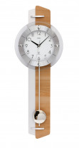 AMS Radio-controlled pendulum wall clock core beech