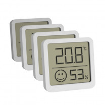 Digitale thermo- hygrometer 4 stuks