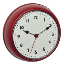 TFA Tijdsein gestuurde wandklok in Retro stijl, rood