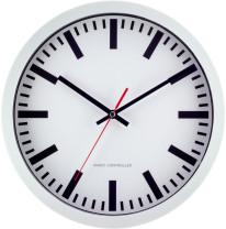 Tijdsein gestuurde Stationsklok, wit