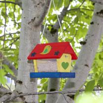Vogelvoederhuis Bouwset inclusief verf en kwast