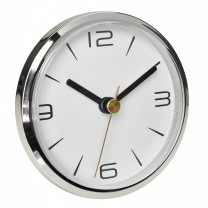 Built-in quartz clock with two dials