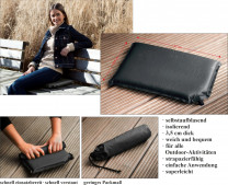Self-inflating thermal mobile pillow - sit warm, soft and dry everywhere