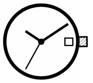 Horloge uurwerk Ronda 705, uurrad-H 1,27 SC, D3