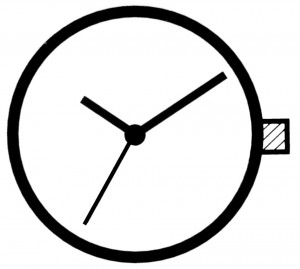 Horloge uurwerk Ronda 753, uurrad-H 0,95 SC