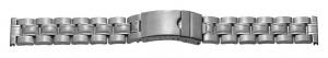 metalen band XL edelstaal 22mm staal gematteerd/gepolijst