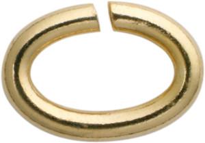 bindring ovaal edelstaal/verguld 7,00 x 5,00, dikte 1,10mm