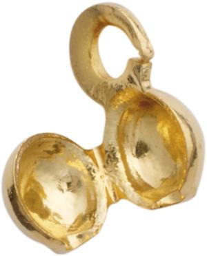 knijpkapje metaal geel  Ø 3mm