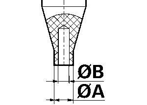 Inzetstuk voor wijzerplaatser Bergeon 6935  Ø A 1,5 mm persstuk, zonder gat