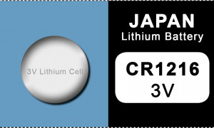 Japan 1216 lithium knoopcel