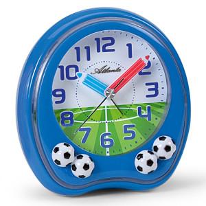 Atlanta 1719/5 blauw voetbal kinderwekker