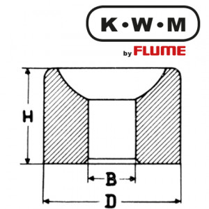 KWM Bouchon Messing L33 , B 0,6-H 1,9-D 1,82 mm
