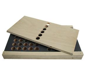KWM Basis houten assortimentsdoos (zonder inhoud).