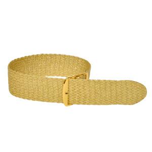 Perlon bands in trendy glitter look, gold, 18 mm