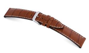 Lederband Tupelo 16mm cognac met Alligatorprint