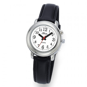 Atlanta 8916/19 silber sprechende Armbanduhr