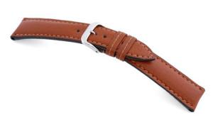 Lederband Pueblo 18mm cognac buffel leder