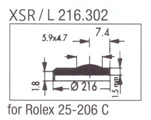 Glas XSR/L 216.302 saffier