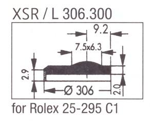 Glas XSR/L 306.300 saffier