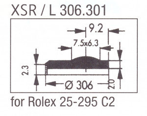 Glas XSR/L 306.301 saffier