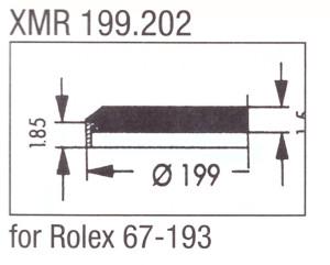 Glas XMR 199.202 mineraal