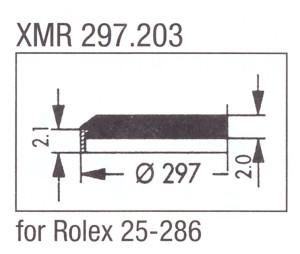 Glas XMR 297.203 mineraal
