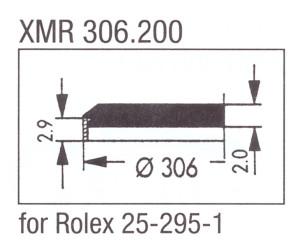 Glas XMR 306.200 mineraal
