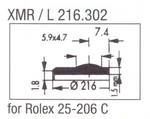 Glas XMR/L 216.302 mineraal