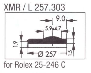 Glas XMR/L 257.303 mineraal